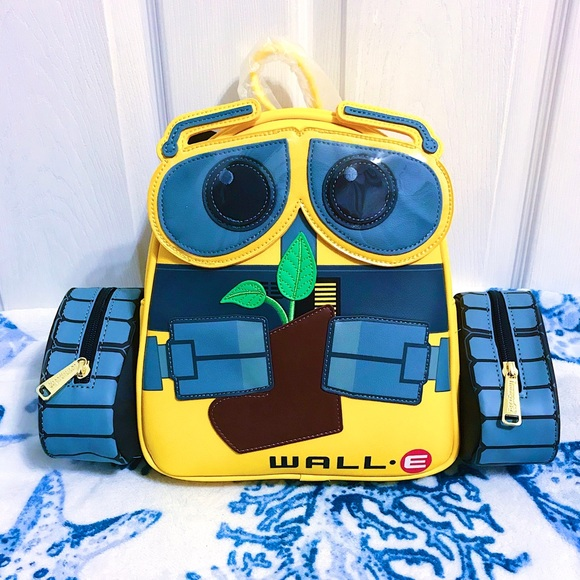 NWT 🌱 Loungefly Wall-E Plant Boot Backpack